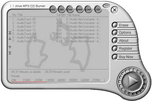 Alive MP3 CD Burner 1.2.9.2