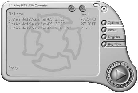Click to view Alive MP3 WAV Converter 3.9.3.2 screenshot