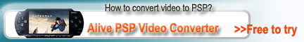 PSP Converter, Convert AVI to PSP, 3G2, or MP4